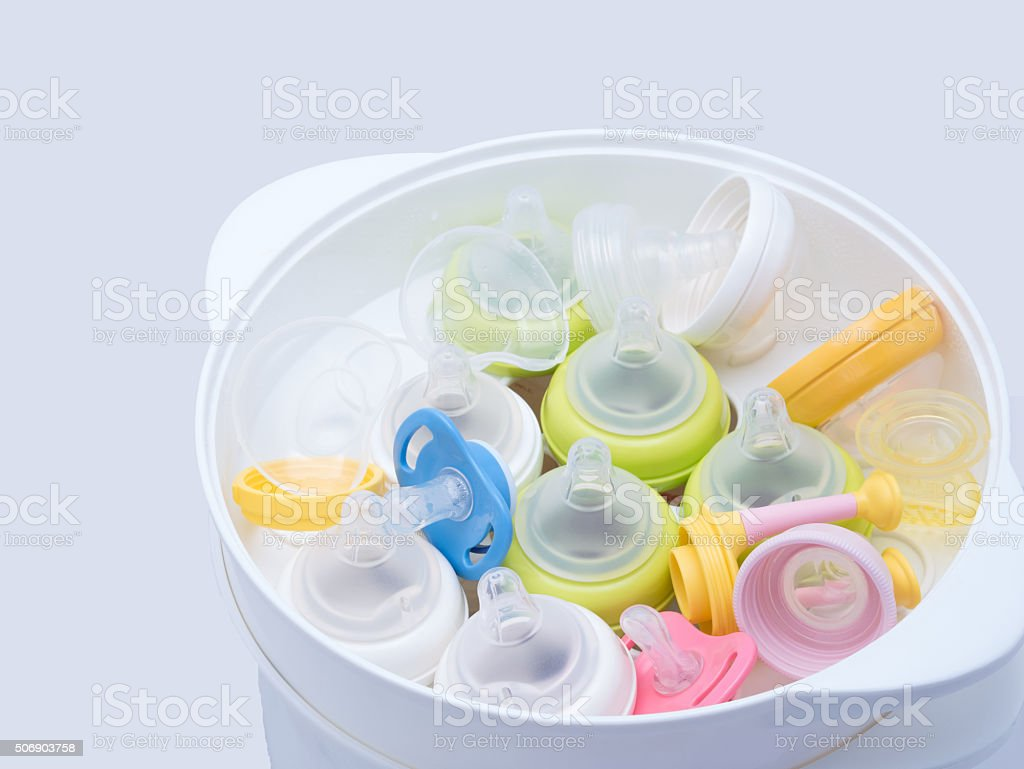 Nipples in steam sterilizer and dryer. royalty-free stock photo