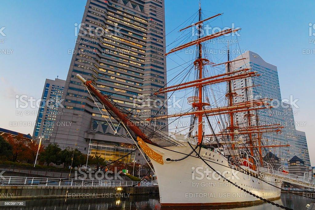 Nippon Maru in Yokohama, japan stock photo