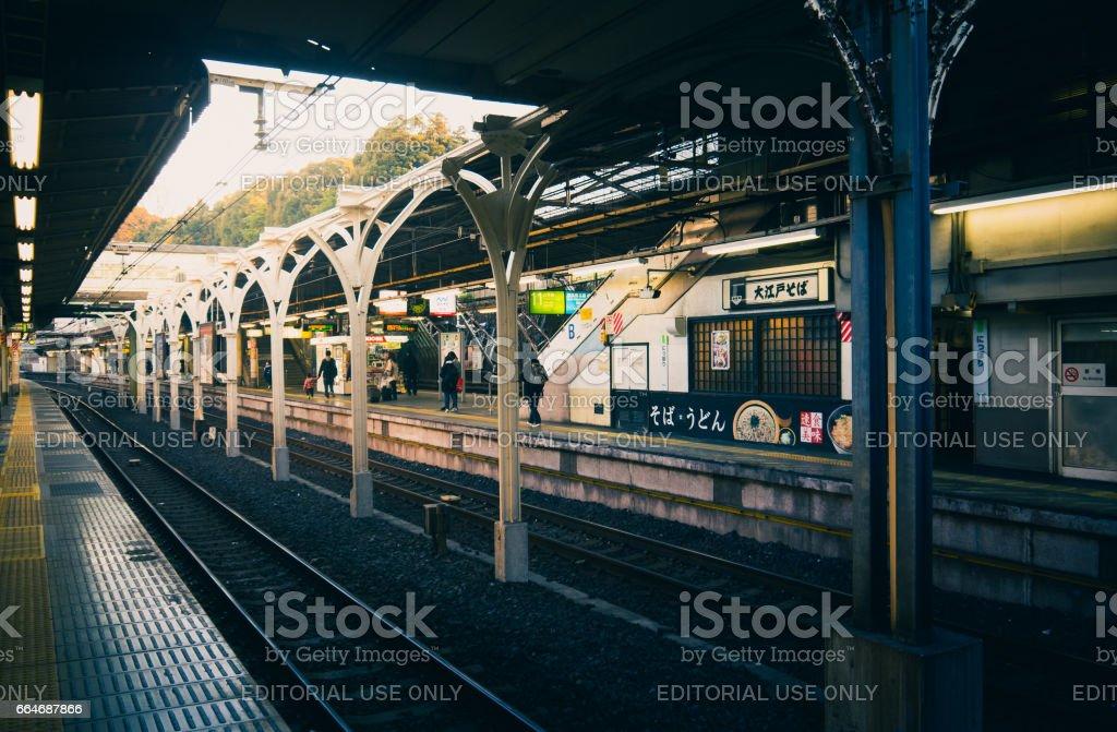 Nippori station, Tokyo stock photo