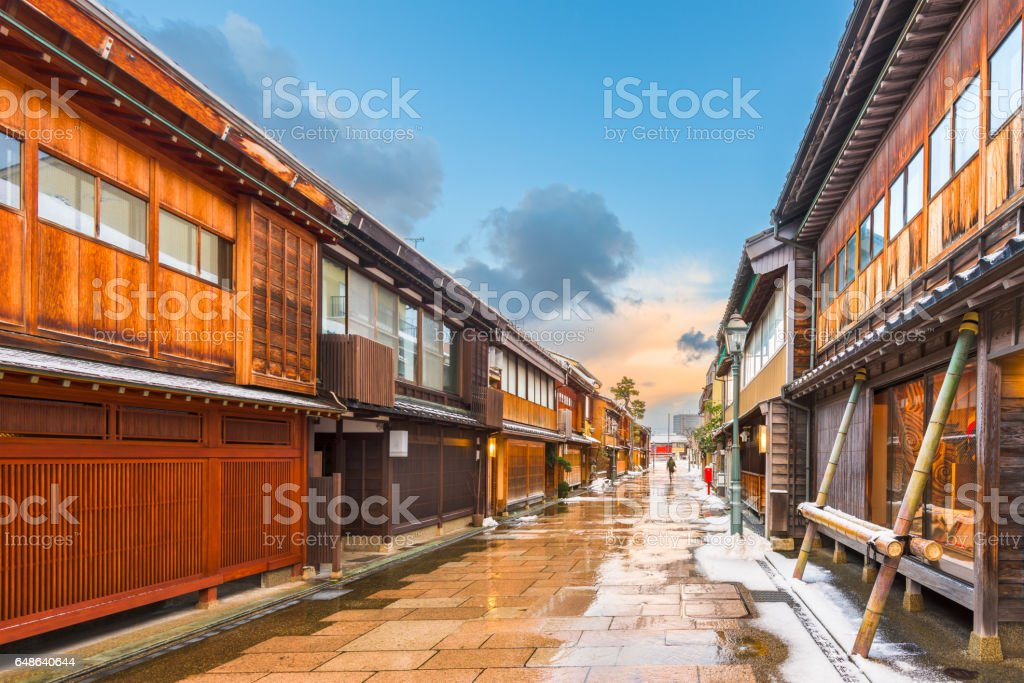 Nishi Chaya District in Kanazawa Japan stock photo