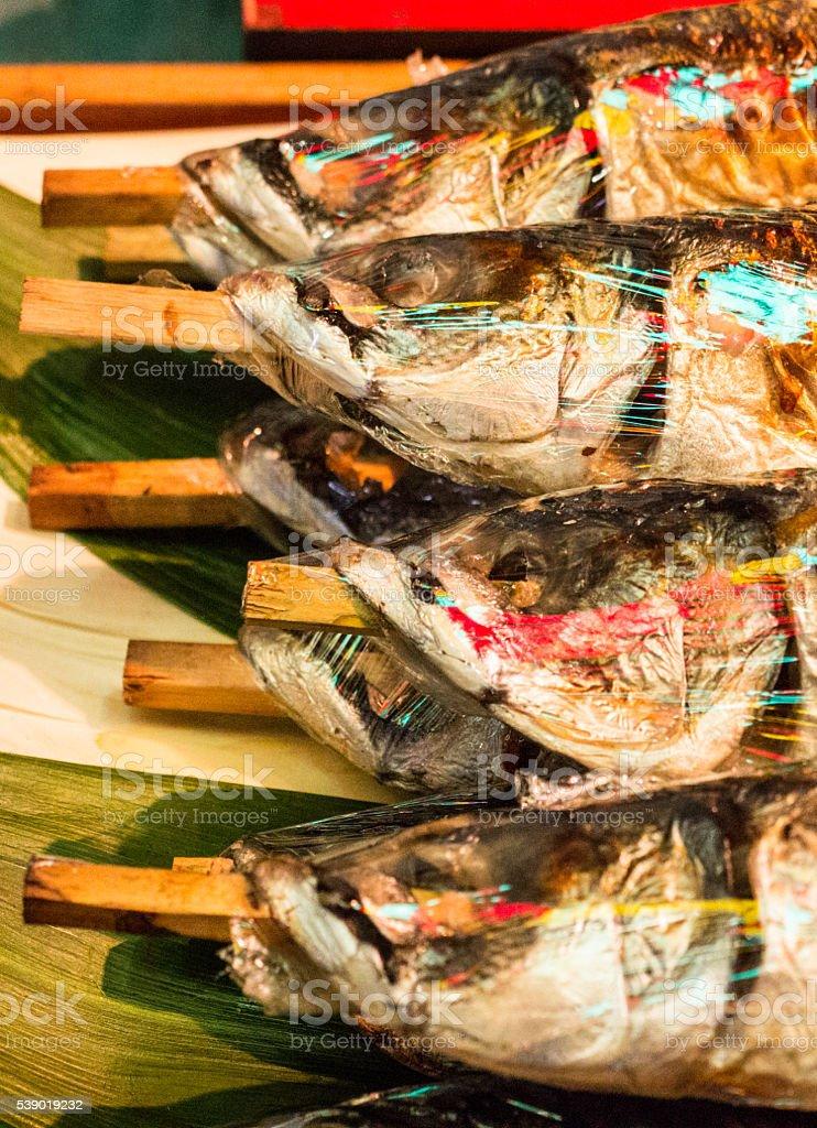 Nishiki Fish Market in Kyoto, Japan stock photo