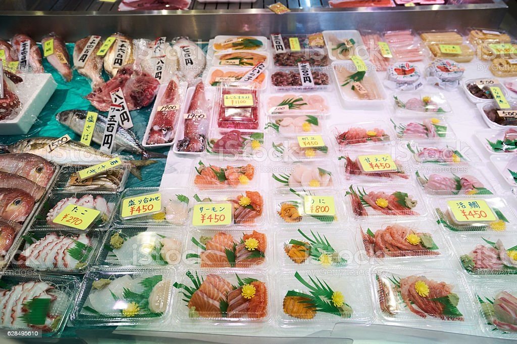 nishikimarketSashimi_1 stock photo
