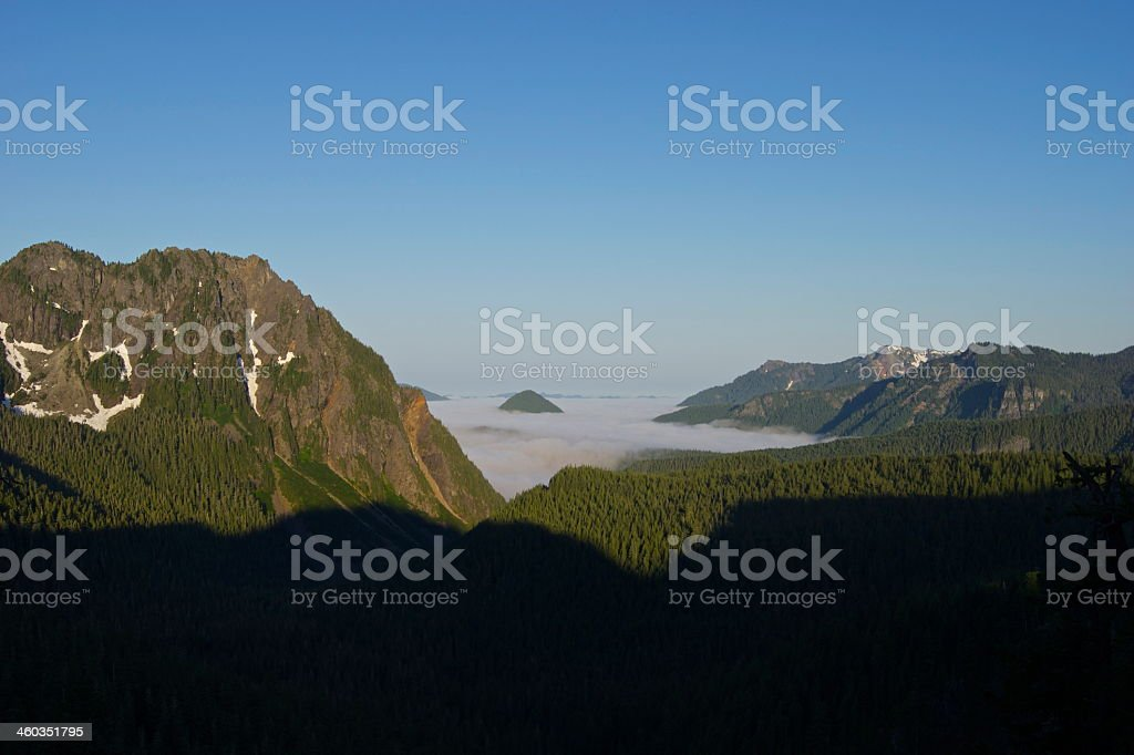 Nisqually Valley Sunrise stock photo