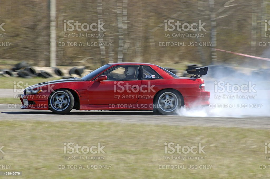 Nissan 200sx PS13 drifting stock photo