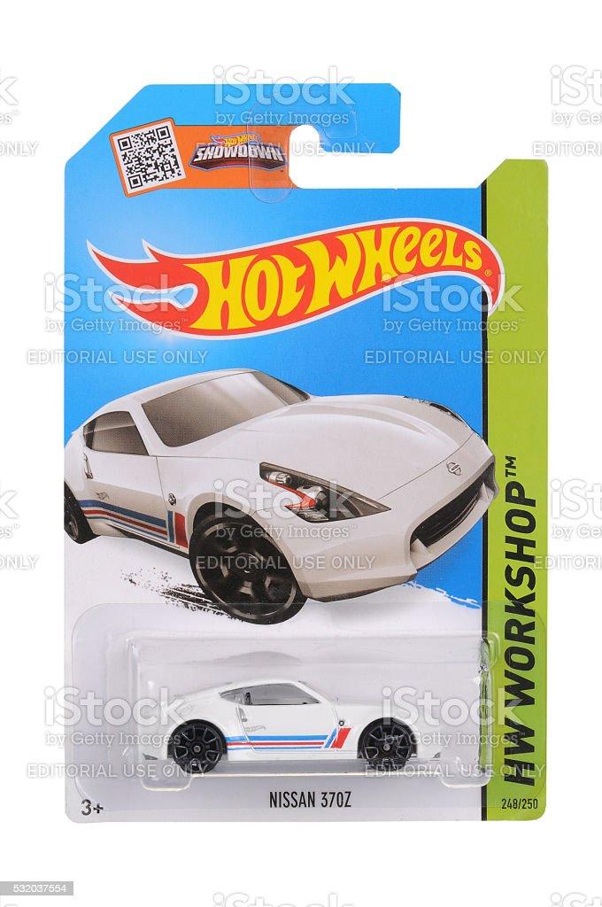 Nissan 370Z Hot Wheels Diecast Toy Car stock photo