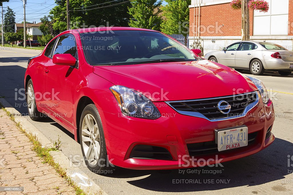 Nissan Altima Coupe stock photo