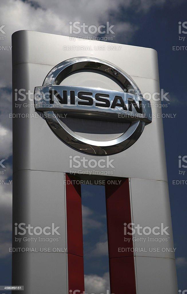 Nissan car dealership sign stock photo