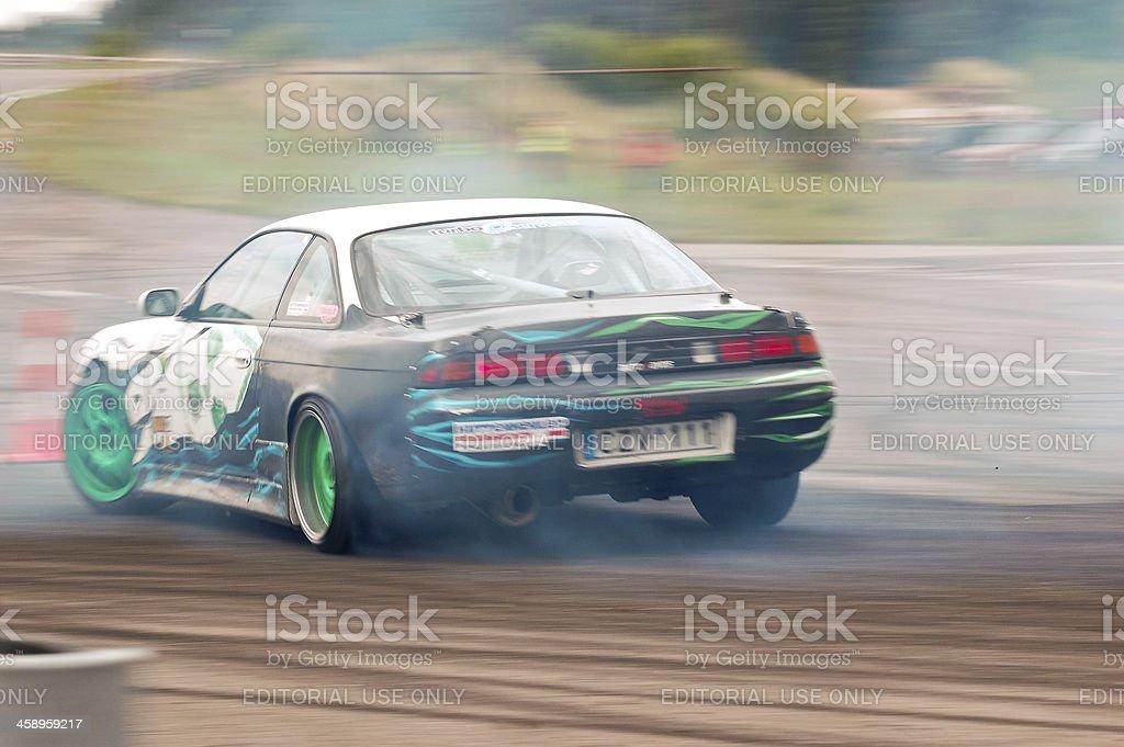 Nissan drifting royalty-free stock photo