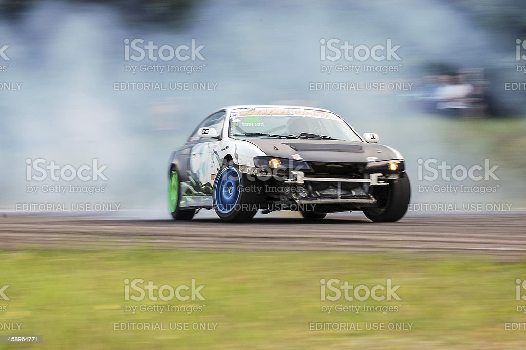 Nissan drifting stock photo