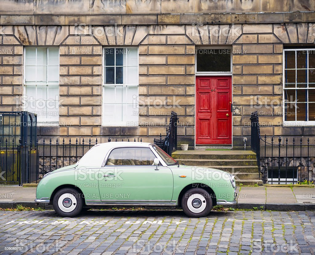 Nissan Figaro in Edinburgh stock photo