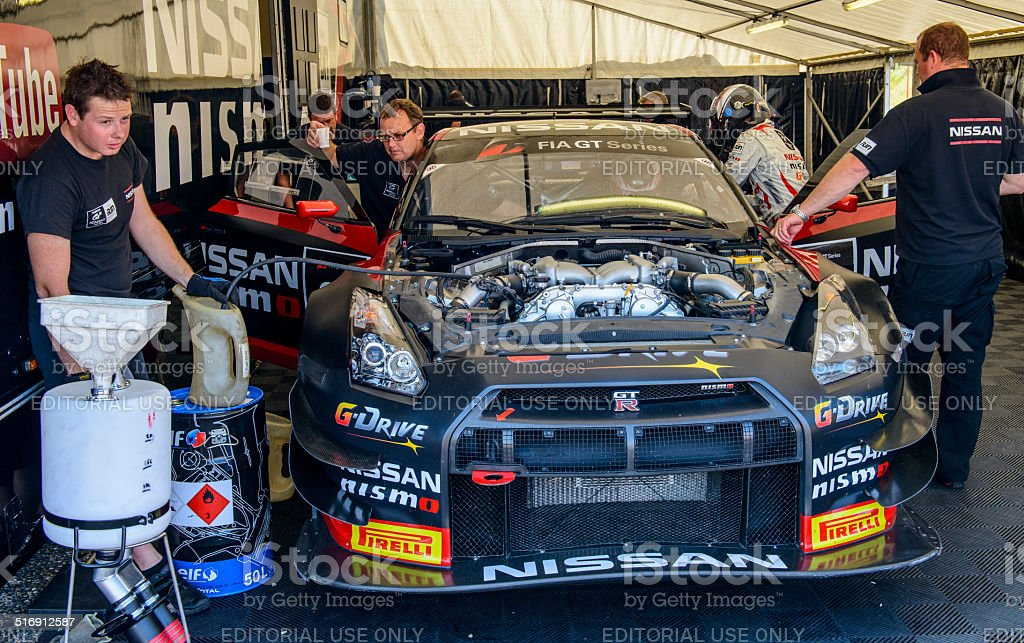 Nissan GT Academy Team stock photo