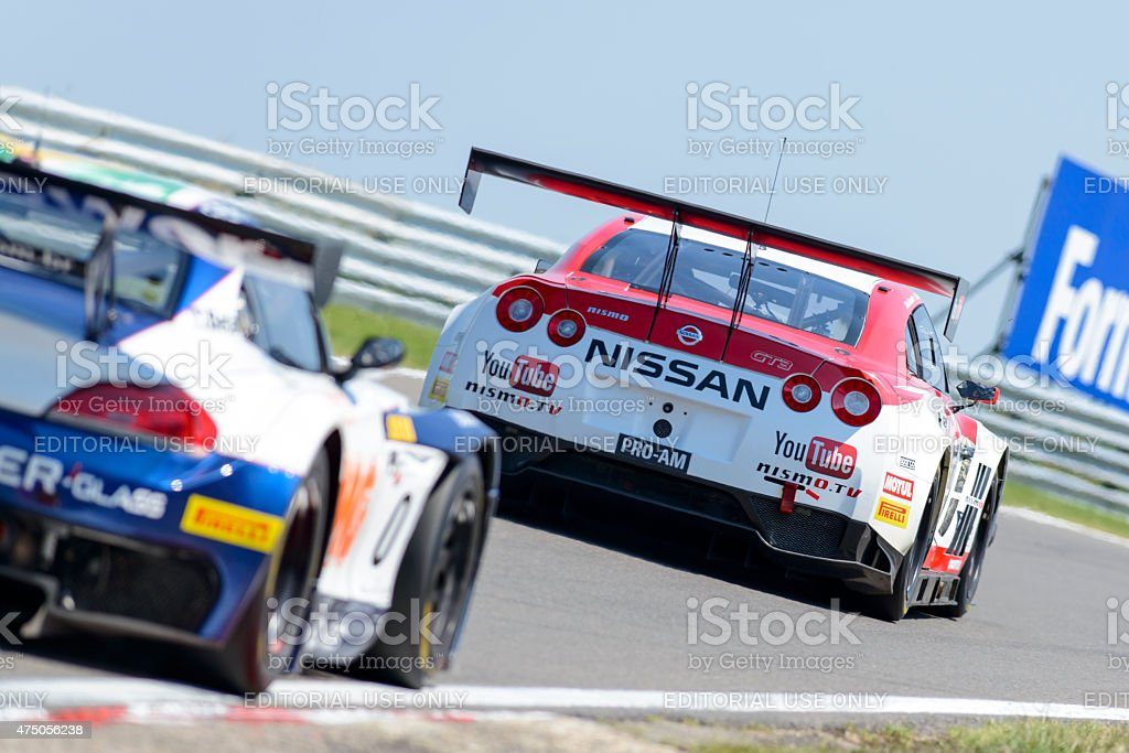 Nissan GT-R Nismo GT3 and BMW Z4 GT3 stock photo