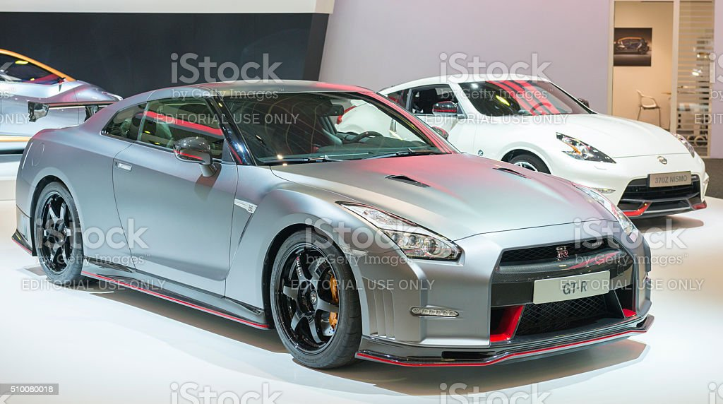 Nissan GT-R Nismo sports car stock photo