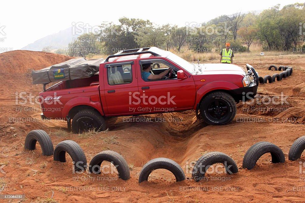 Nissan Hardbody on 4x4 Course stock photo