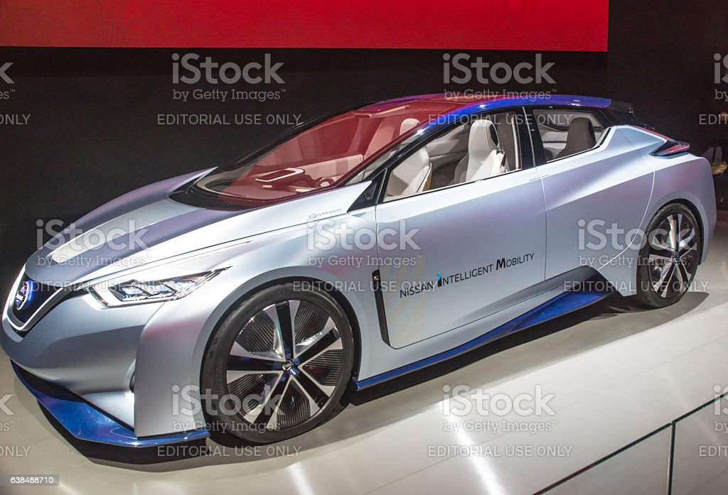 Nissan Intelligent Mobility at CES stock photo