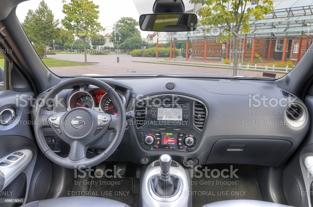 Nissan Juke interior stock photo