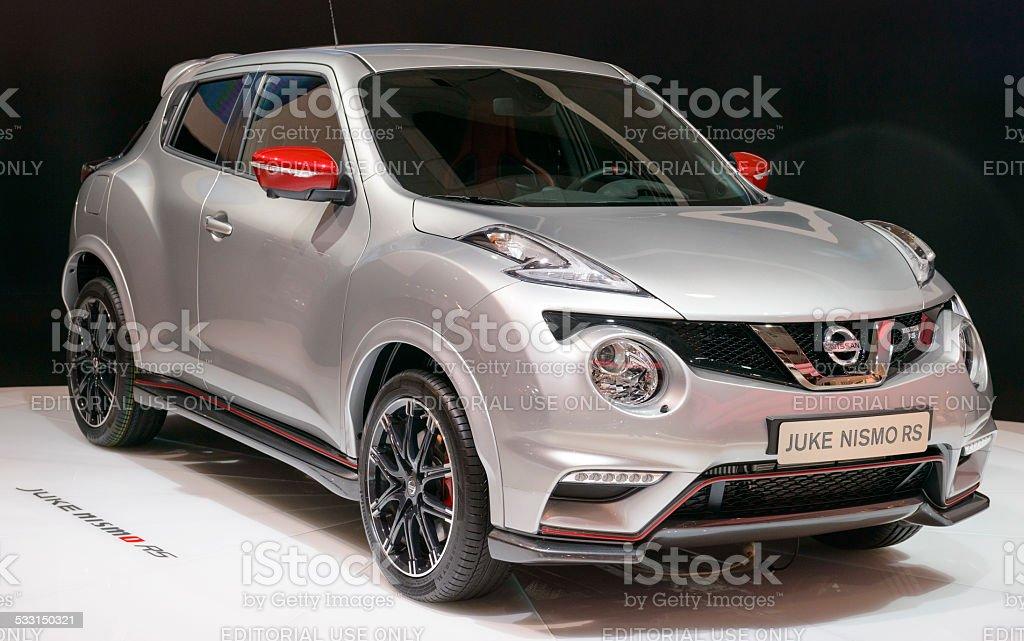 Nissan Juke Nismo RS crossover stock photo
