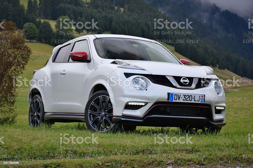 Nissan Juke on the grass stock photo
