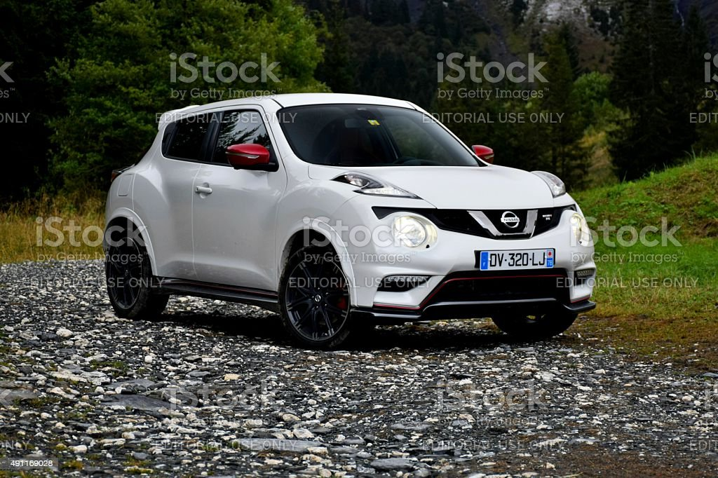 Nissan Juke on the road stock photo