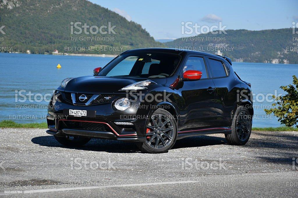 Nissan Juke on the road stock photo