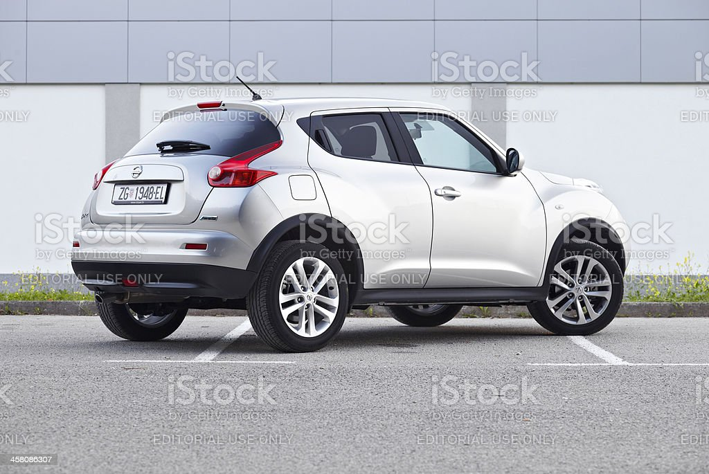 Nissan Juke rear stock photo