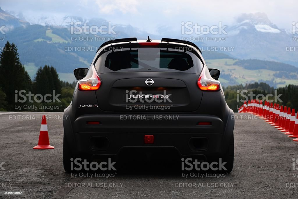 Nissan Juke-R on the start line stock photo