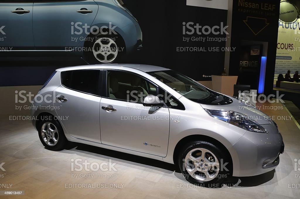 Nissan Leaf EV royalty-free stock photo