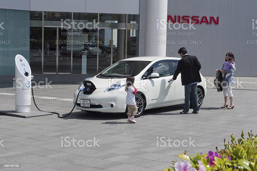 Nissan Leaf royalty-free stock photo