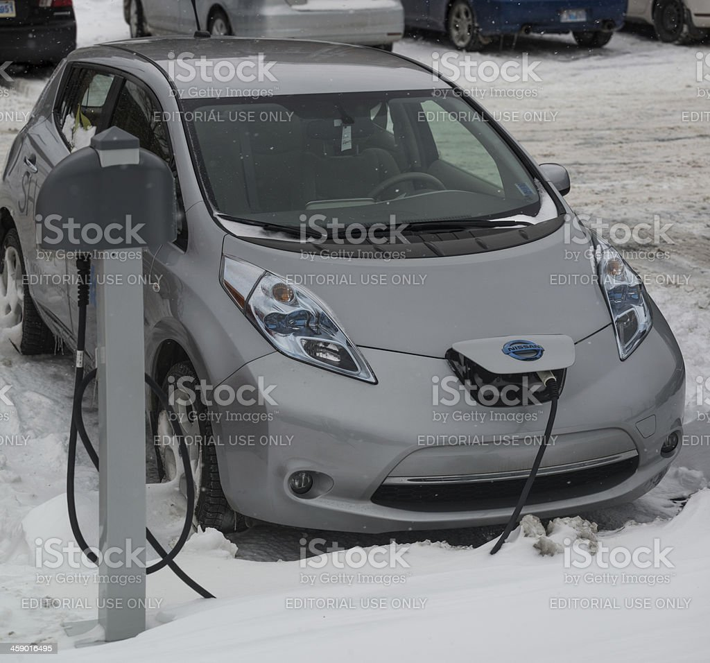 Nissan Leaf royalty-free stock photo