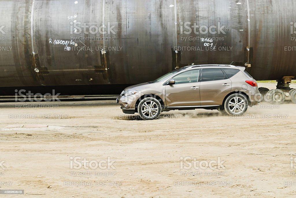 Nissan Murano off road stock photo