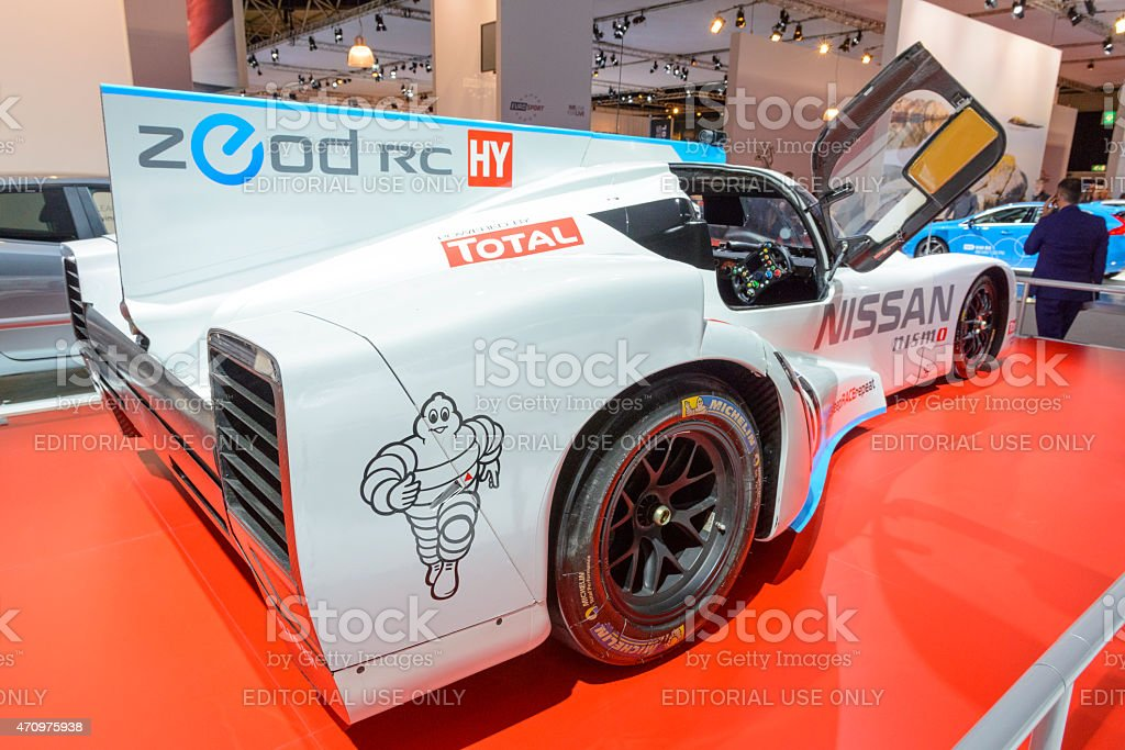 Nissan Nismo Deltawing ZEOD RC race car stock photo