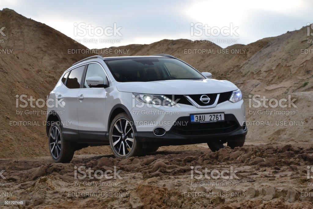Nissan Qashqai at the test drive stock photo