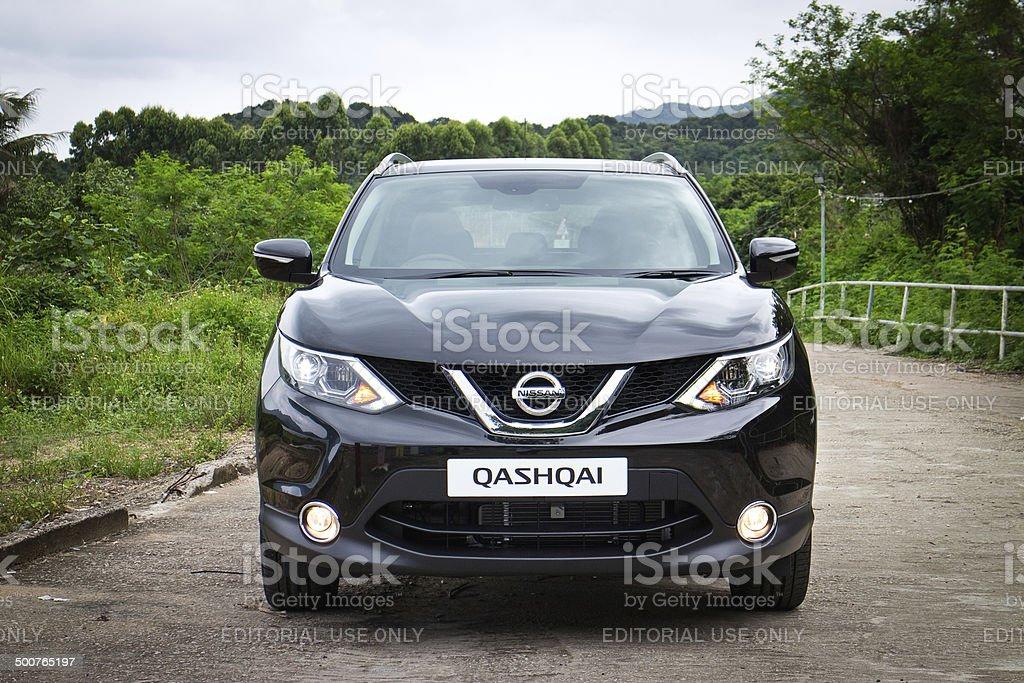 Nissan Qashqai test drive in Hong Kong stock photo