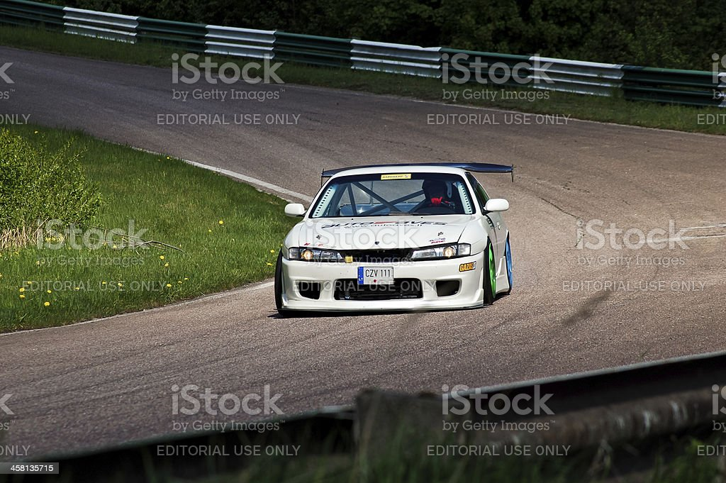 Nissan S14A in action royalty-free stock photo
