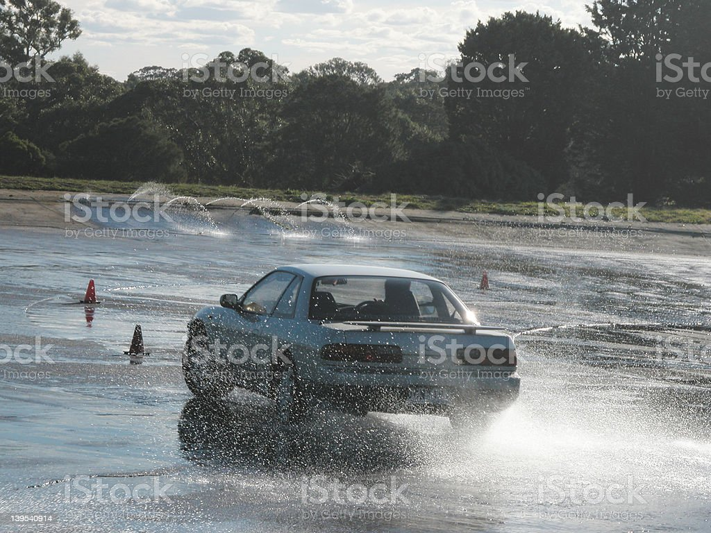 nissan silvia loosing traction stock photo