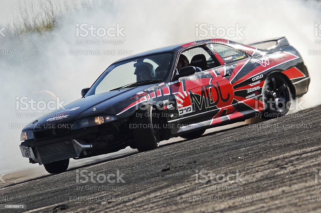 Nissan Skyline R33 drift stock photo