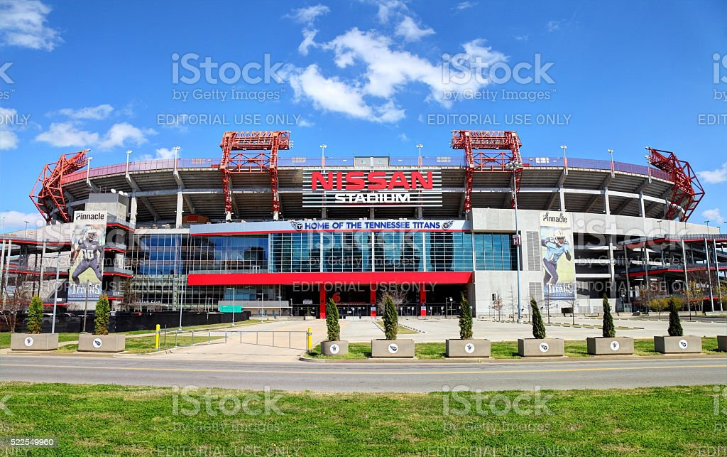 Nissan Stadium Home of the Tennessee Titans stock photo