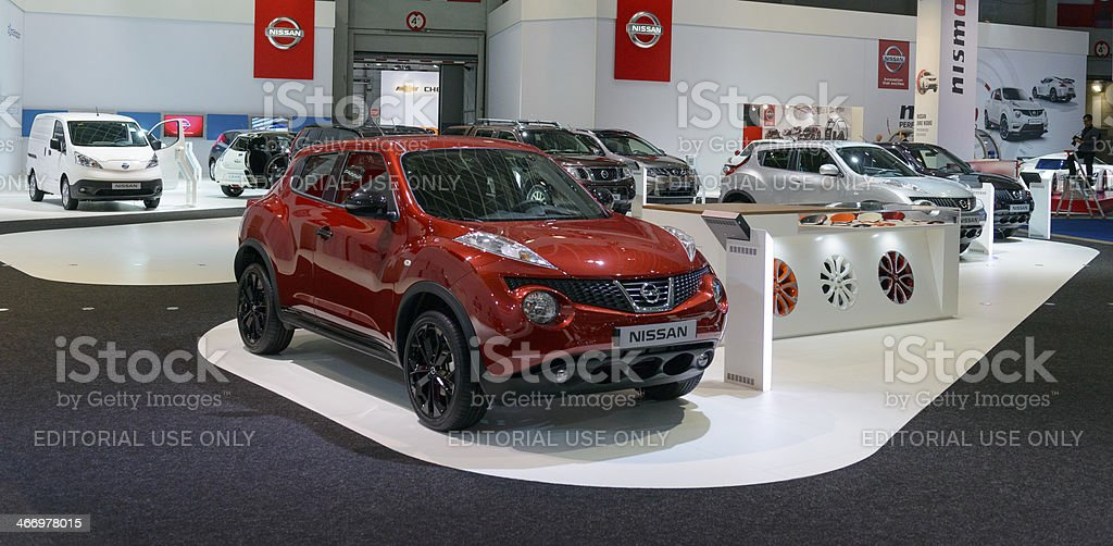 Nissan stand stock photo