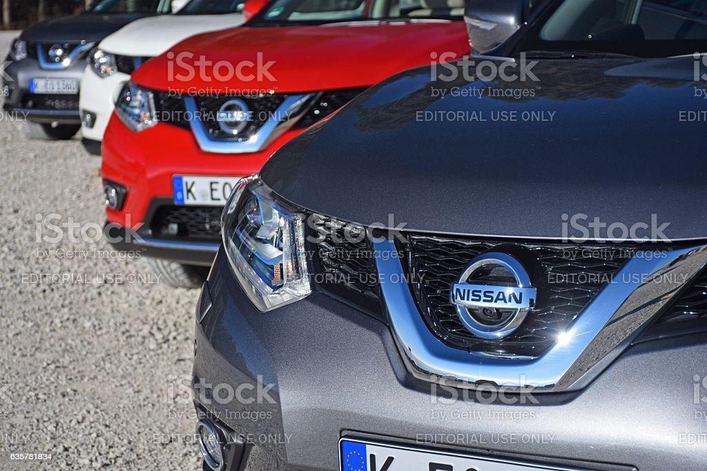 Nissan X-Trail vehicles stock photo