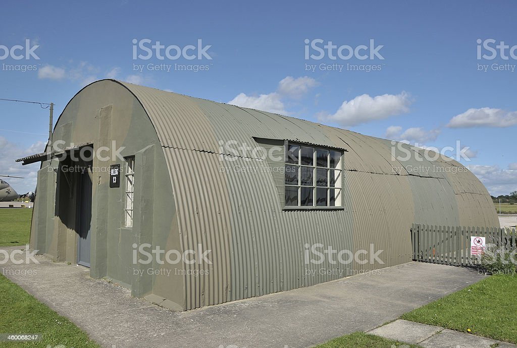WW2 RAF Nissen Hut stock photo