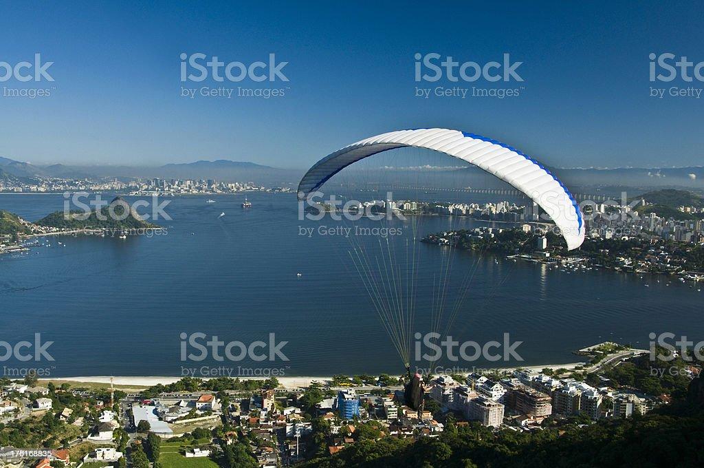 Niteroi and Rio de Janeiro royalty-free stock photo