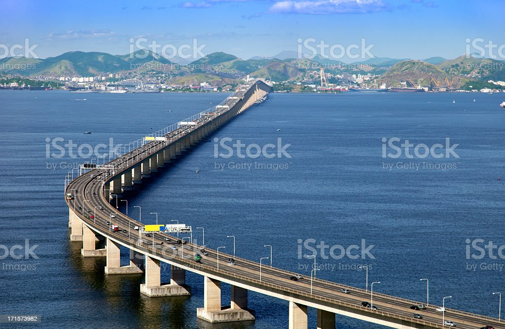 Rio Niteroi Bridge stock photo