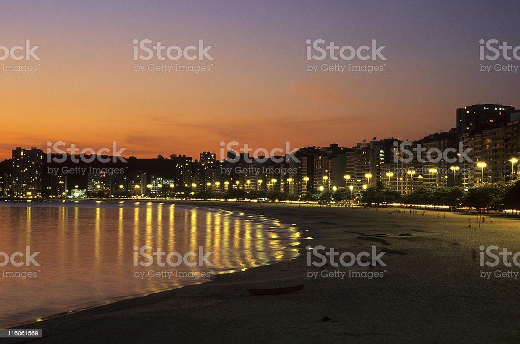 Niteroi city - Praia de Icarai royalty-free stock photo