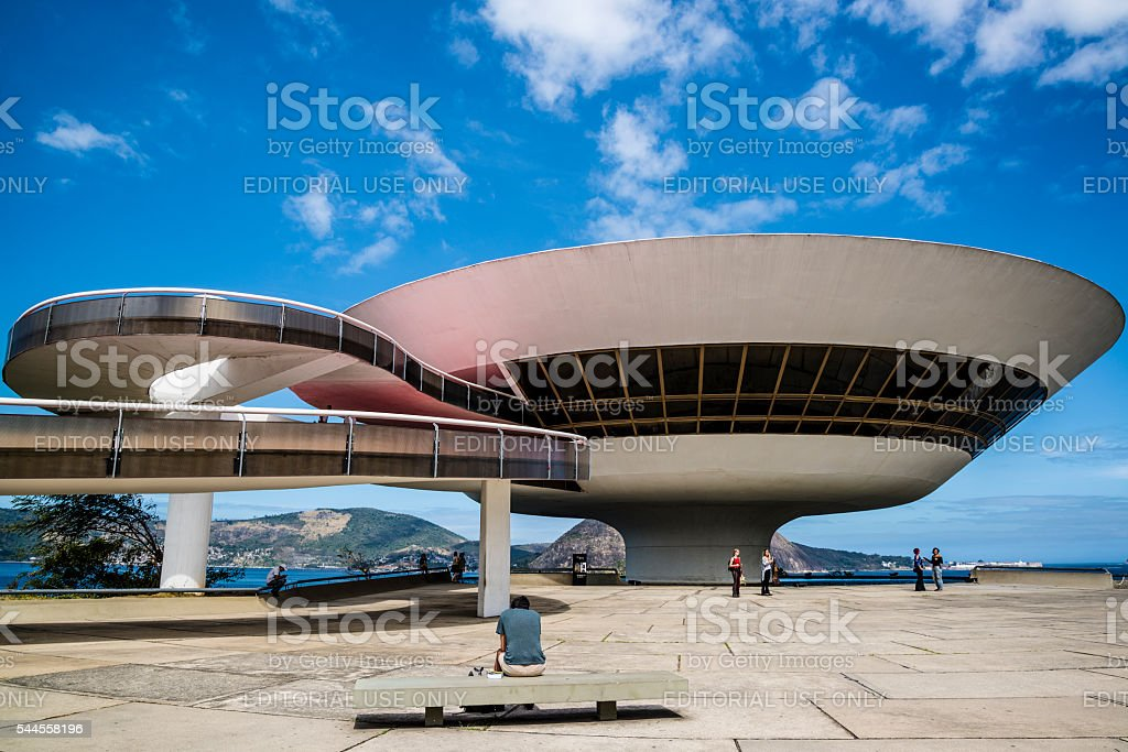 Niteroi Contemporary Art Museum, Brazil stock photo