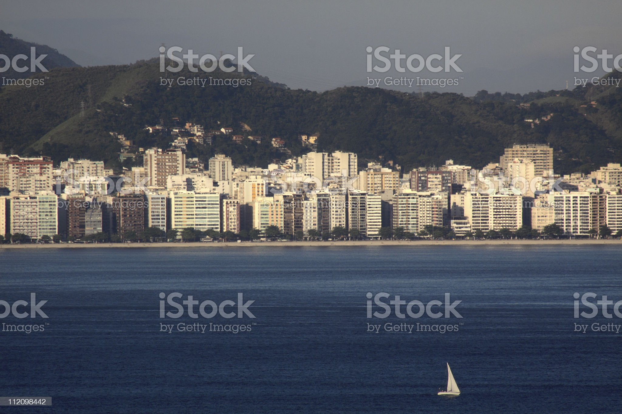 Niteroi - Icarai Beach royalty-free stock photo