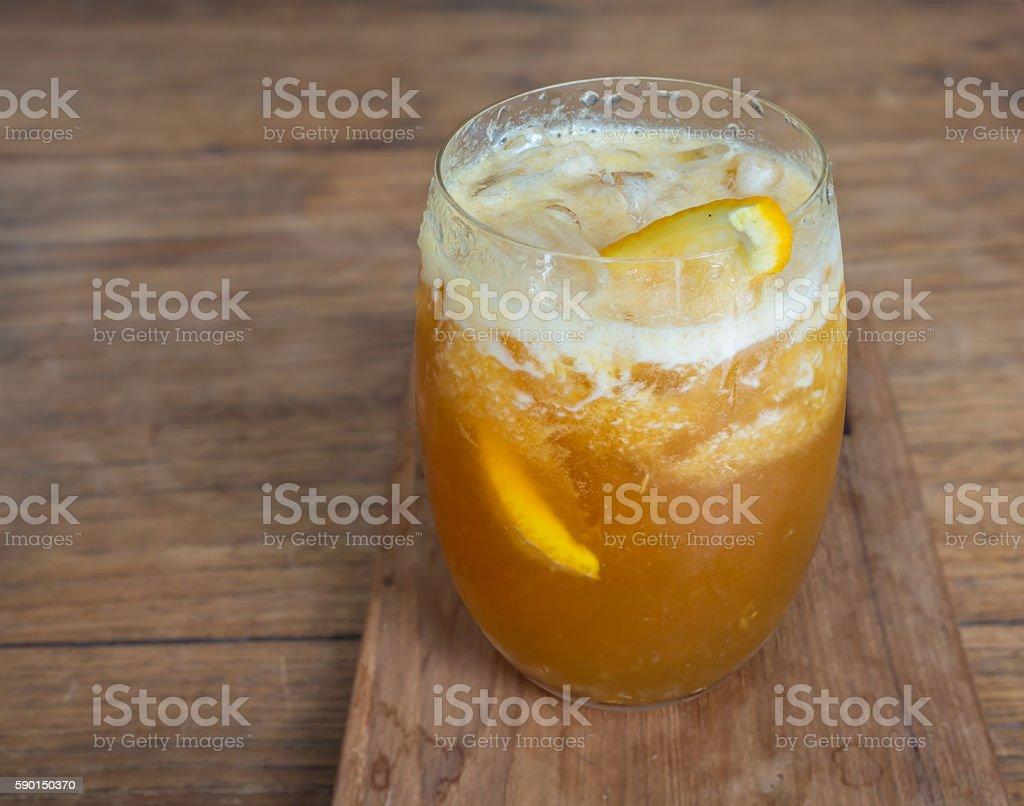 nitro coffee with orange-1 stock photo