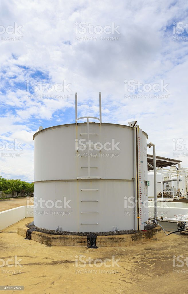 Nitrogen chemical plant for factory royalty-free stock photo