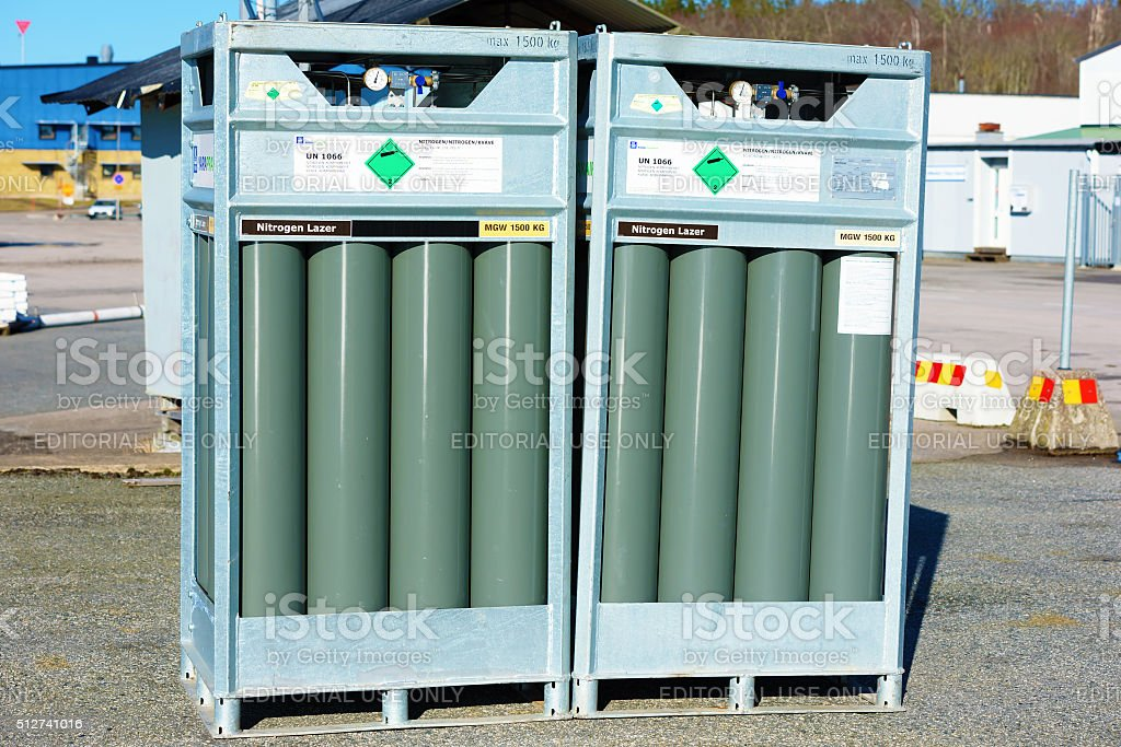 Nitrogen gas stock photo