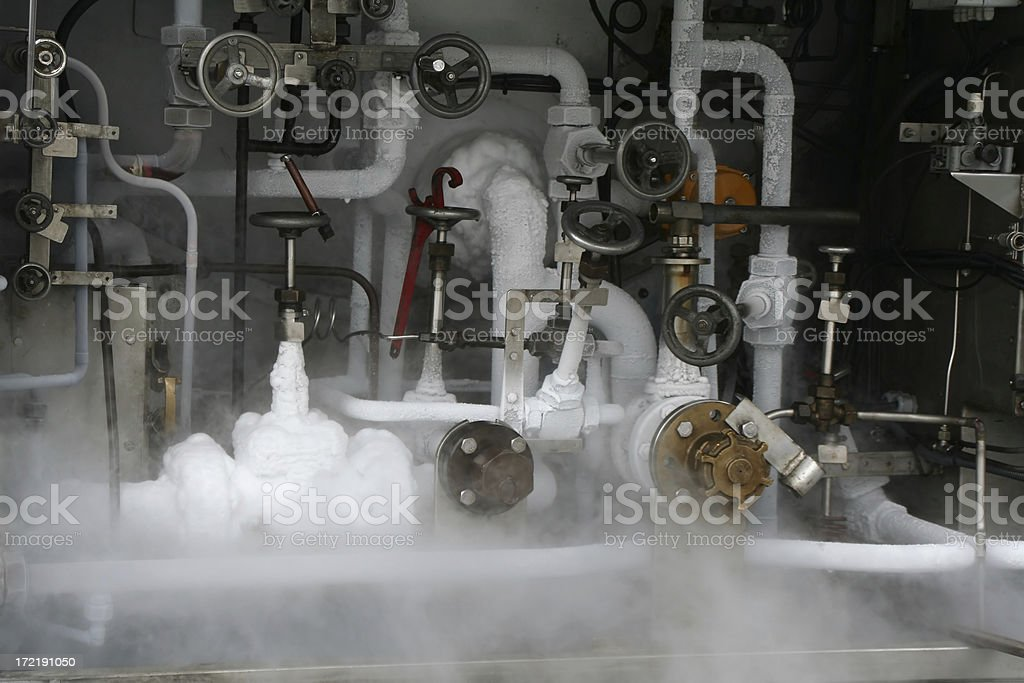 Nitrogen tank-car stock photo