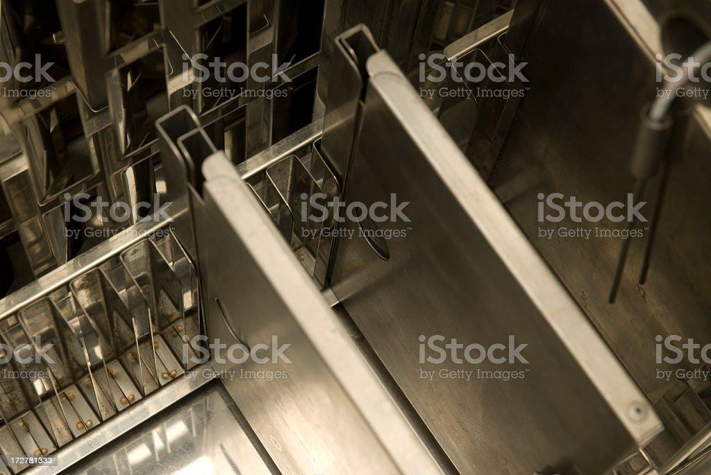 Nitrogene Freezing Tank Detail royalty-free stock photo